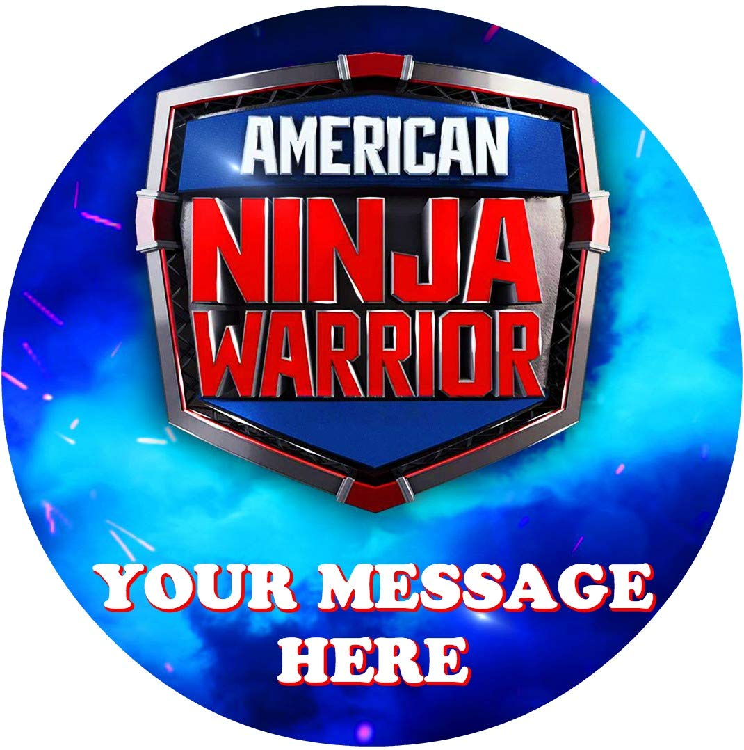 American Ninja Warrior Cake Topper Edible Image Personalized Cupcakes Frosting Sugar...