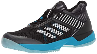 huge selection of d76c9 9479a adidas Women s Adizero Ubersonic 3 Clay, Black White Shock Cyan 5 ...