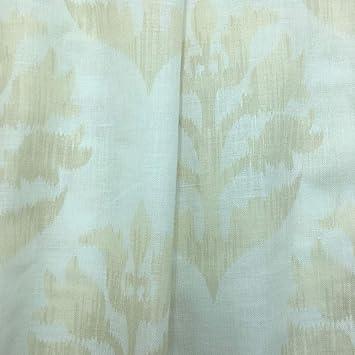 Tela por metros de cortina - Visillo estampado digital - 50% algodón, 50% poliéster - Ancho 300 cm - Largo a elección de 50 en 50 cm | Hojas - Beige, blanco: Amazon.es: Hogar