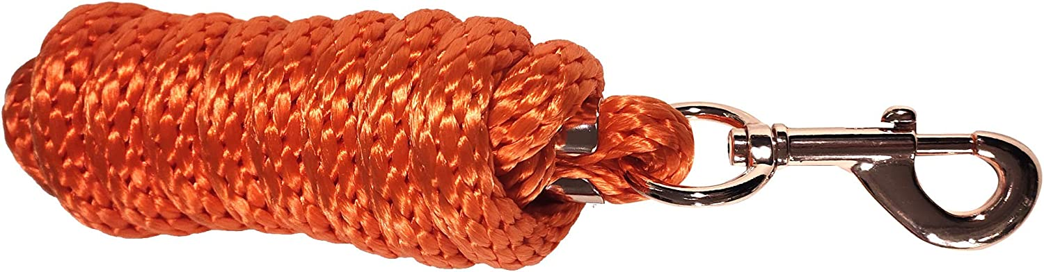 TGW RIDING Horse Lead Rope 7Feet Horse Lead Rope Rose Gold Color Snap