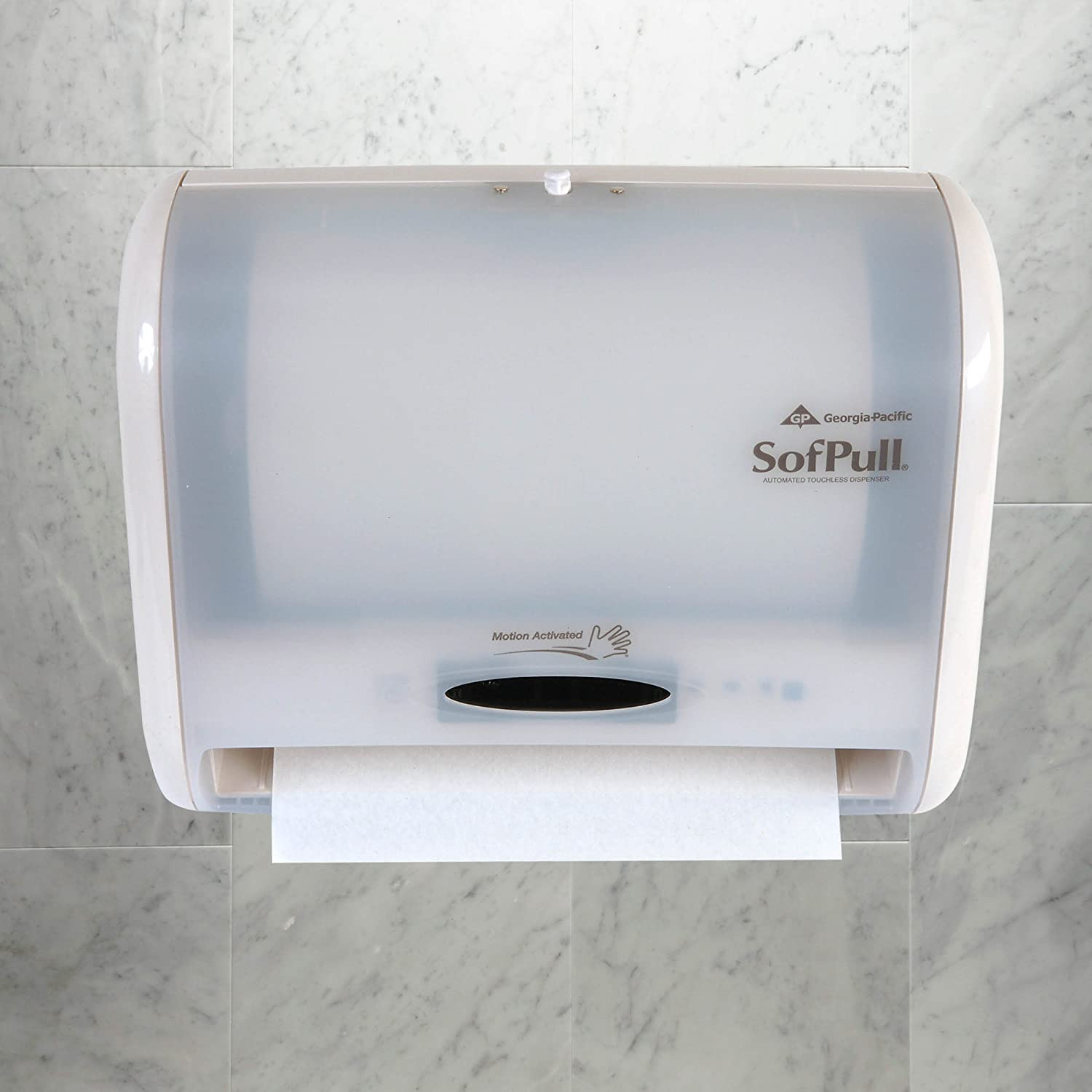 Georgia-Pacific Sofpull 58487 Automatic Touchless Towel Dispenser, Translucent White