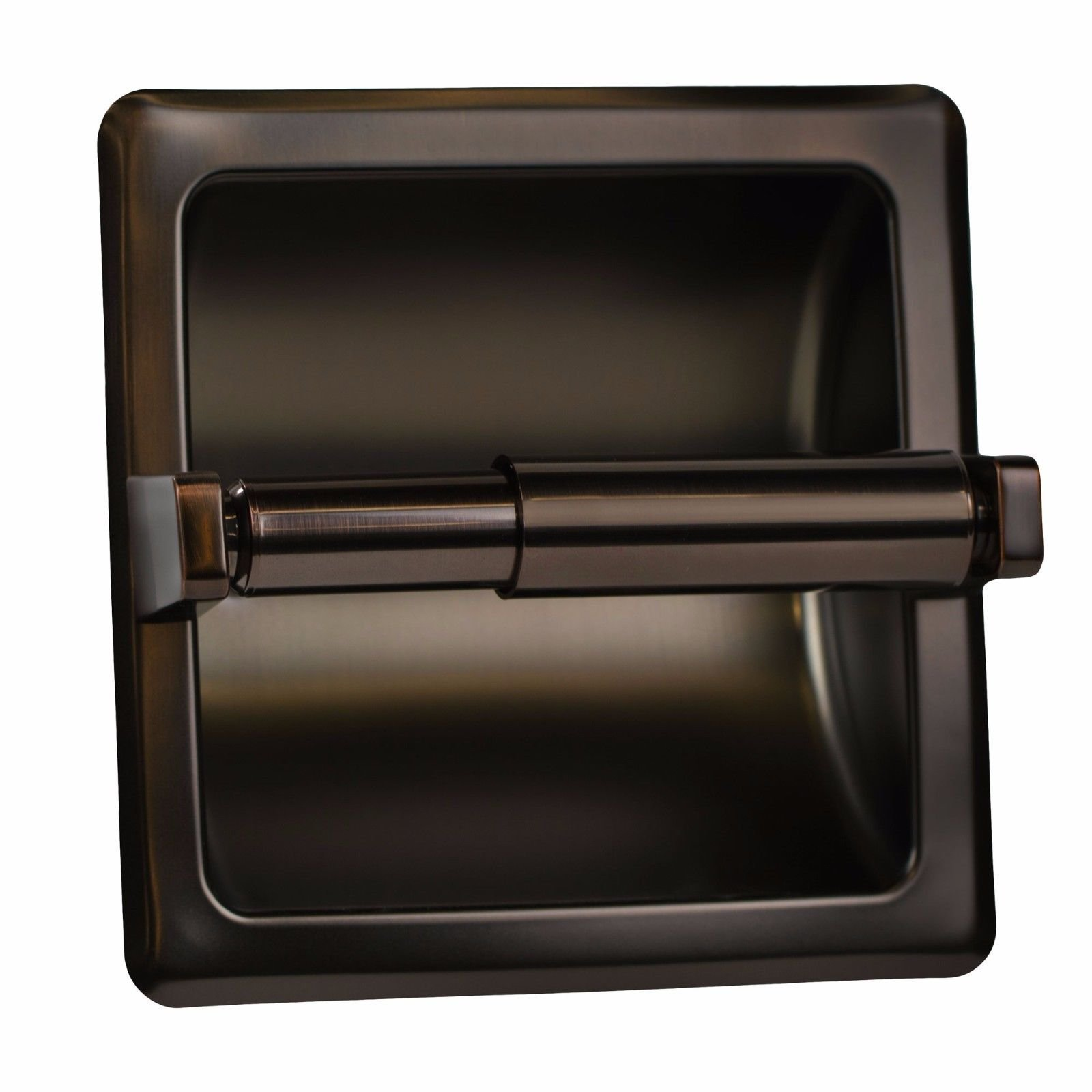 Modern Bronze Matching Recessed Oil Rubbed Stainless Steel Toilet Paper Holder Great For Your Home Ofiice Bathroom