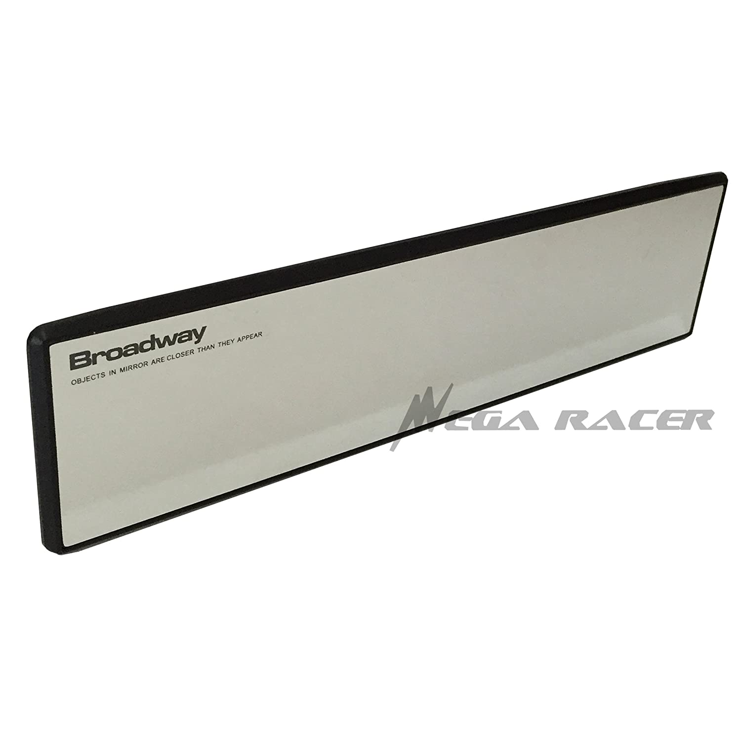 BROADWAY CHROME 300 MM Flat Face Anti-Glare BW746 Napolex Universal Clip-On Wide Rear View Mirror Car Truck US Seller Mega Racer