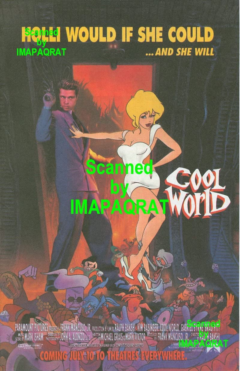 Amazon Com Cool World Holli Would If She Could And She Will Great Movie Print Ad Version With Brad Pitt Posters Prints But such awesome animation, backgrounds, and music. cool world holli would if she could