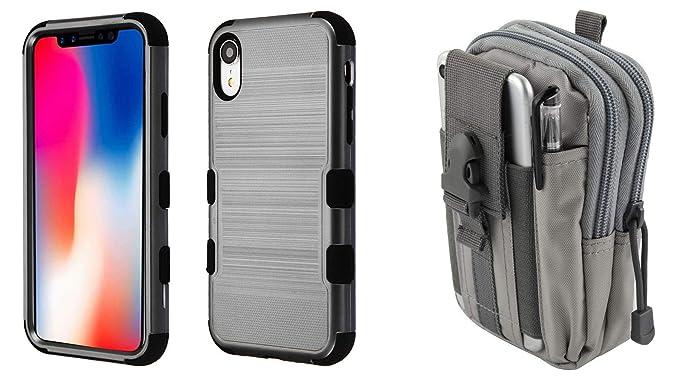 on sale a3d1b 5d5a4 Amazon.com: TUFF Case Bundle Compatible with Apple iPhone XR ...