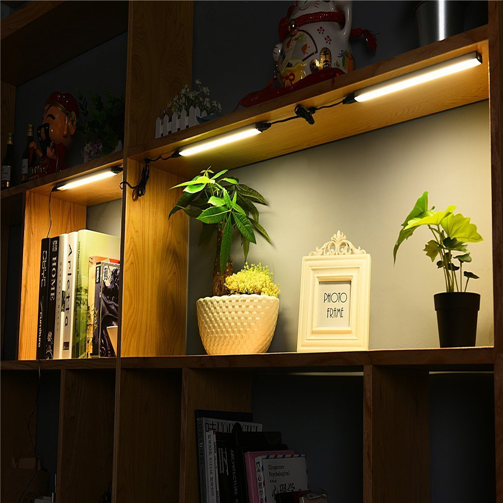 Onward Under Cabinet Lighting Shelf Light-2018 New Under Counter LED Light Strips Touch Dimmable for Kitchen Counter, Closet,Show Case, 12W Super Bright,11 Intch x 3PCS 4000K Nature White
