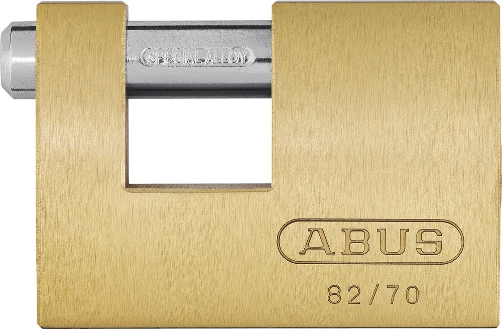 Abus 82/90 90mm Monoblock Brass Shutter Padlock Carded
