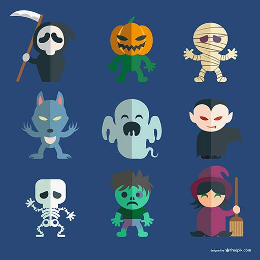 Characters Of Halloween (Lets Match Halloween)