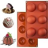 2 Piezas Molde de Silicona para Hornear de 6 Agujeros,antiadherentes, sin BPA,moldes para hornear para bombas de chocolate ca