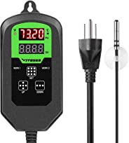 VIVOSUN Digital Heating Thermostat Temperature Controller with Timer Cycle for Seed Germination Reptiles Brewing and Hatchin