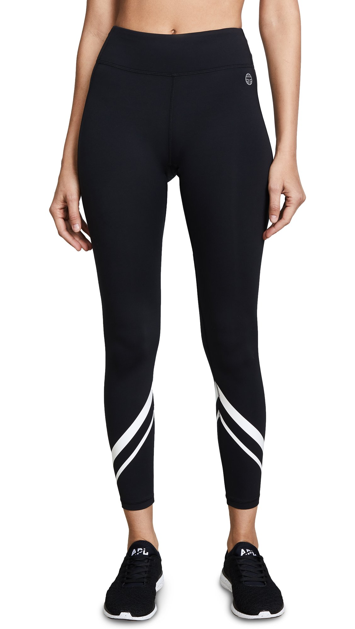 Tory Sport Women's Chevron Full Length Leggings, Sport Black, Large