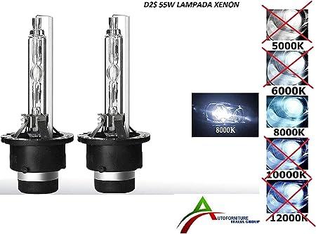 Kit 2 Lampade Di Ricambio Xenon D2s 55w Luce A 8000k Amazon It Auto E Moto