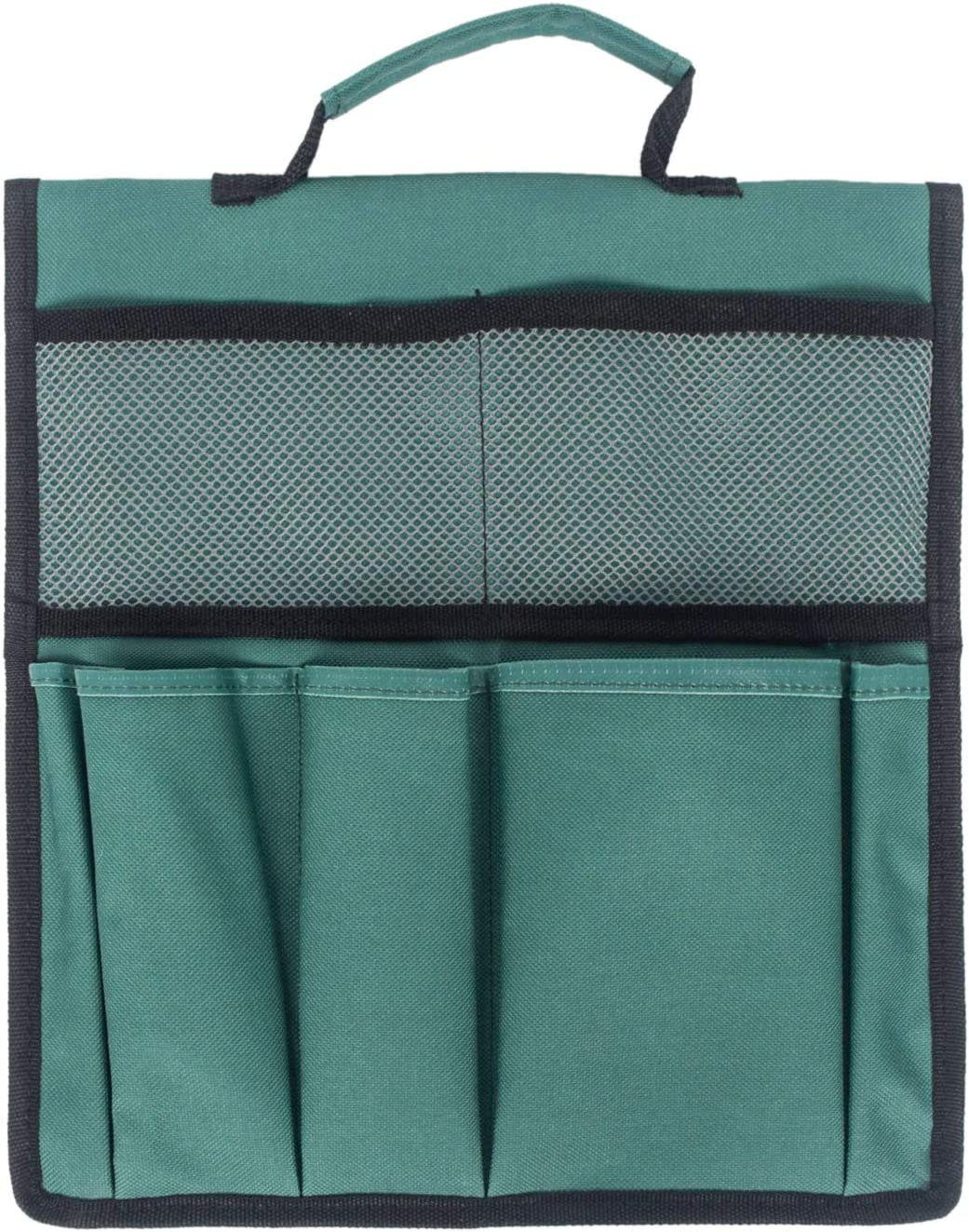 Portable Garden Foldable Kneeler Seat Tool Bag Outdoor Work Cart Storage Pouch (Green)