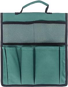 Portable Garden Foldable Kneeler Seat Tool Bag Outdoor Work Cart Storage Pouch (Green)