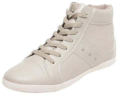 Dynamic24 - Zapatillas altas Mujer , color Beige, talla 38: Amazon.es: Zapatos y complementos