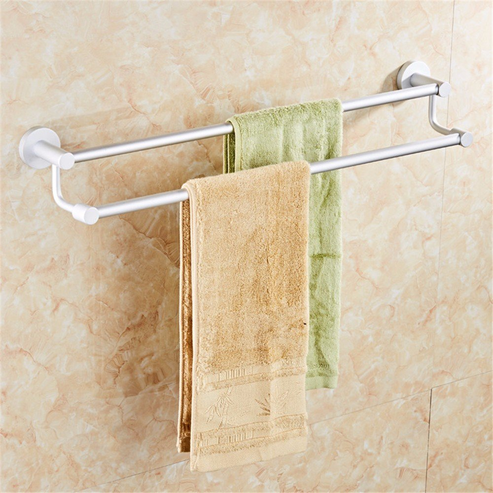 TXDQFa The bathroom space aluminum towel rack does not need to punch,Long 60CM