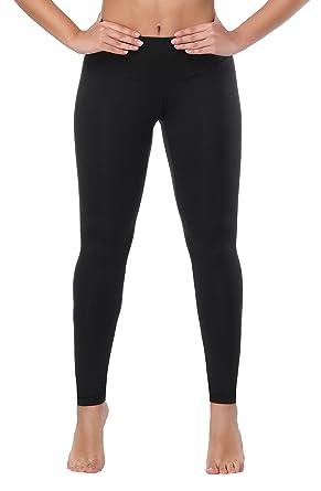 30cd289637349 Women High Waist Inner Pocket Yoga Pants Active Workout Running Sports  Leggings Black XXL
