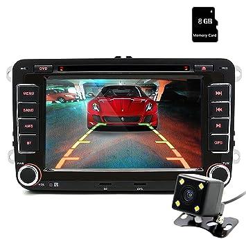 Dispositivo de navegación Junsun, 7 pulgadas, pantalla táctil, para coche, DVD, GPS, 2 DIN, con Bluetooth, control en el volante: Amazon.es: Electrónica