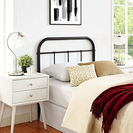 f1a83db143ef2 Amazon.com - Modway Serena Rustic Farmhouse Style Steel Metal Twin Headboard  Antique Size in Brown -