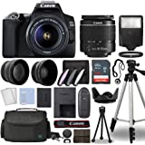 Canon EOS 250D / Rebel SL3 Digital SLR Camera Body w/Canon EF-S 18-55mm f/3.5-5.6 Lens 3 Lens DSLR Kit Bundled with Complete