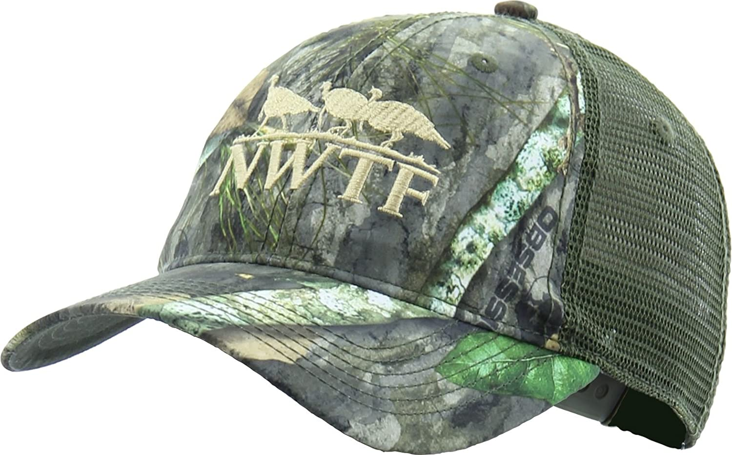 Amazon.com  Nomad Men s NWTF Camo Trucker Hat (Mossy Oak Obsession  Nwtf 483bc576af0d