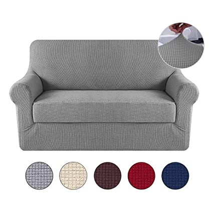 Amazon.com: KOBWA Sofa Covers Stretch Cushion Covers Couch ...