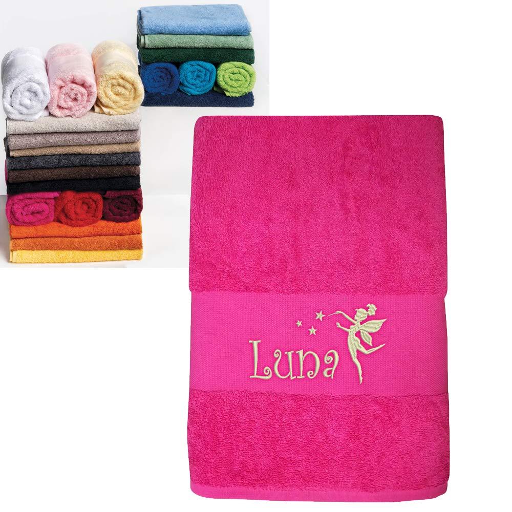 Serviettes bébé enfant Personnalisées prénom, 3 tailles et 16 coloris au choix, 450gr/m2, cadeau anniversaire, cadeau personnalisé, cadeau naissance, cadeau noël