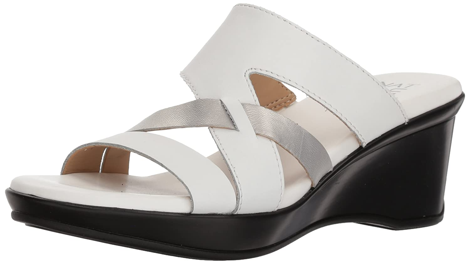Naturalizer Women's Vivy Wedge Sandal B0787PGGTN 4 B(M) US|White