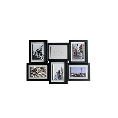 Amazon.com - Melannco 6-Opening Floating Collage Frame (Black ...