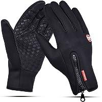 Winterhandschoenen voor Heren Dames Waterdicht Touchscreen Volledige Vingers Fietshandschoenen Gloves voor Buitenshuis…