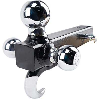 """ORCISH Tri-Ball Hitch with Hook Trailer Hitch Ball Receiver Mount 1 7/8"""" 2"""" 2 5/16"""" Tow: Automotive"""