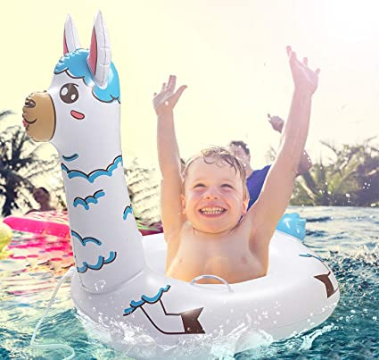 66156dc1e8d4b TRSCIND Pool Floats for Kids Swimming Pool Float Inflatable Llama Floatie  with Safety Rope Pools &