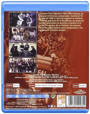 Libertarias [Blu-ray]: Amazon.es: Ariadna Gil, Victoria Abril, Ana Belén, Jorge Sanz, Loles León, Miguel Bosé, Vicente Aranda, Ariadna Gil, Victoria Abril: Cine y Series TV