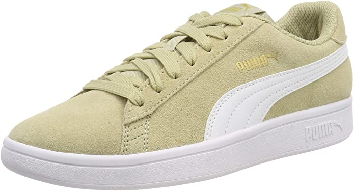 Puma Smash V2 Sneakers Unisex Damen Herren Beige/Weiß
