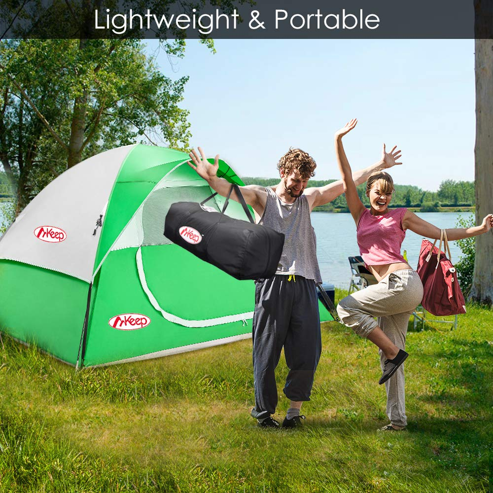 Double Layer Red TOMOUNT Tent Anti-UV Easy /& Quick Setup Tent for Camping Lightweight /& Portable with Carry Bag 3 Large Mesh for Ventilation Professional Waterproof /& Windproof Fabric