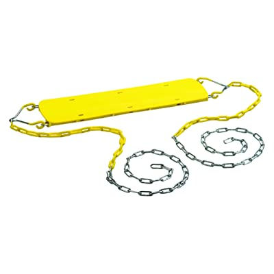 CREATIVE CEDAR DESIGNS Beginner Swing Seat with Chains- Yellow, One Size: Sports & Outdoors
