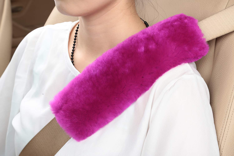 U&M [Pack of 2 pcs] High-Density Wool Auto Seat