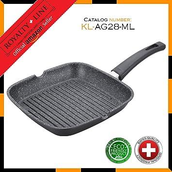 Koch Line KL-AG28ML 28cm Grill asador con rayas con ...