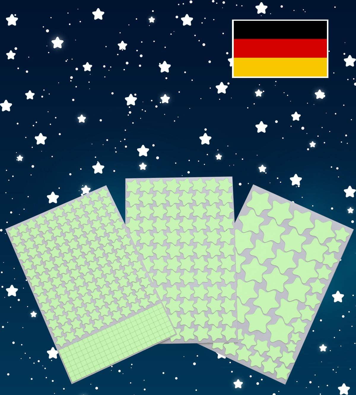 Stickers muraux Beaux ou Stickers muraux pour Enfants et d/écoration pour Chambre /à Coucher Paraboo Etoiles phosphorescentes et Autocollants Lumineux