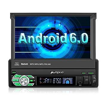 Pumpkin 1 DIN Android 6.0 Radio de Coche Moniceiver con GPS Navi 7 pulgadas/18