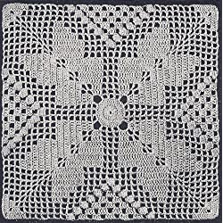 Vintage Crochet Pattern to make - Southern Pride Motif Bedspread. NOT a finished item. This is a pattern and/or instructions to make the item only.
