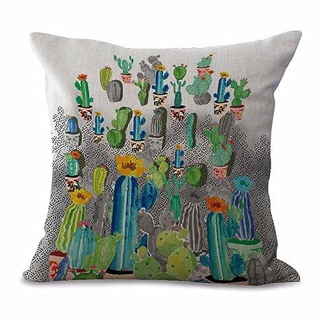 Funda De Almohada Creativa Planta Tropical Cactus Funda De ...