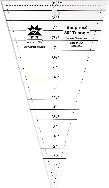 EZ Quilting 8829418A Outil Acrylique Triangle de 30 Degr/és