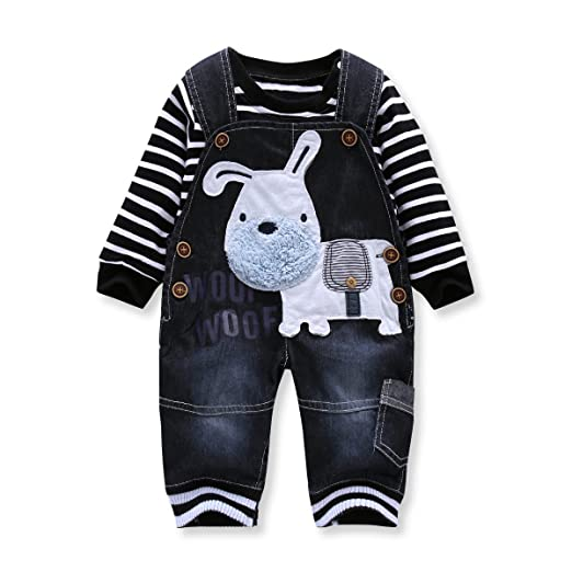525e29ed6 LvYinLi Cute Baby Boys Clothes Toddler Boys' Romper Jumpsuit Overalls  Stripe Rompers Sets