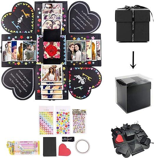 ShangSky Caja de Regalo DIY Explosión Caja Creativa Sorpresa Caja Hecha a Mano Plegable Álbum de Fotos Regalo de cumpleaños para Amigo Amiga: Amazon.es: Juguetes y juegos