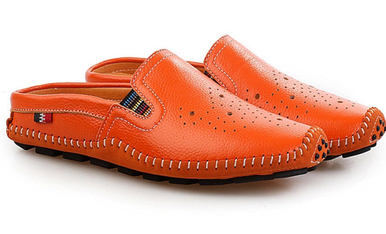 Männer Hausschuhe Erbsen Schuhe Sommer Leder Hausschuhe Männer Lässig Faul Schuhes Braun 8409f6
