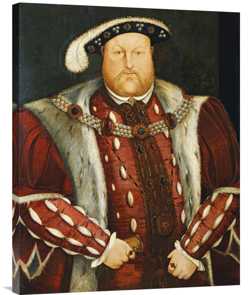 Global Galerie Budget gcs-265021–76,2–360,7 cm Hans Holbein Portrait Of King Henry VIII Galerie Wrap Giclée-Kunstdruck auf Leinwand Art Wand B01K1P7LBY | Luxus