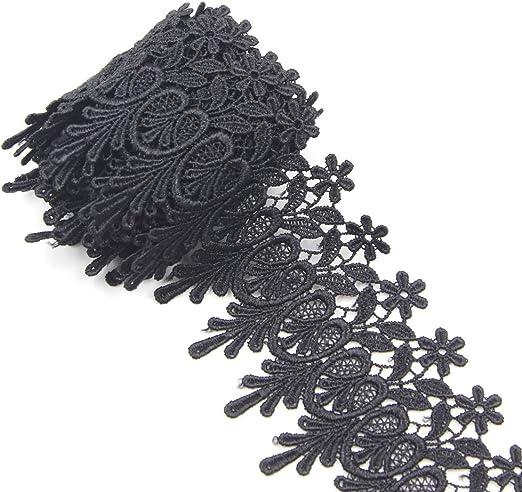Black Decorative Tassel Sew On Applique x 2