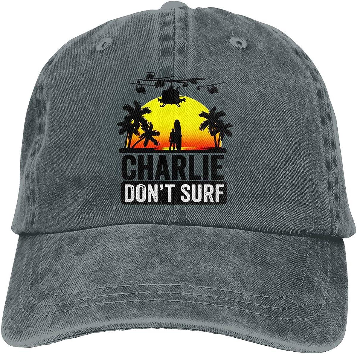 Charlie Dont SURF Fashion Unisex Washed Cap Adjustable Dads Denim Stetson Hat