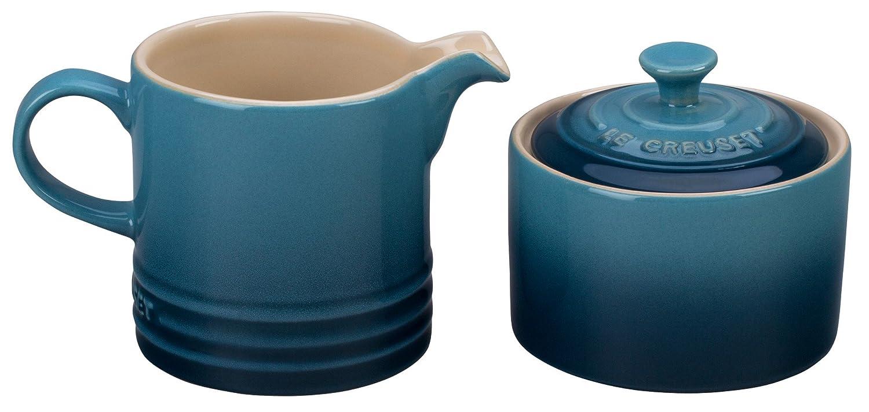 Le Creuset Stoneware Cream and Sugar Set, Palm PG8005-104P